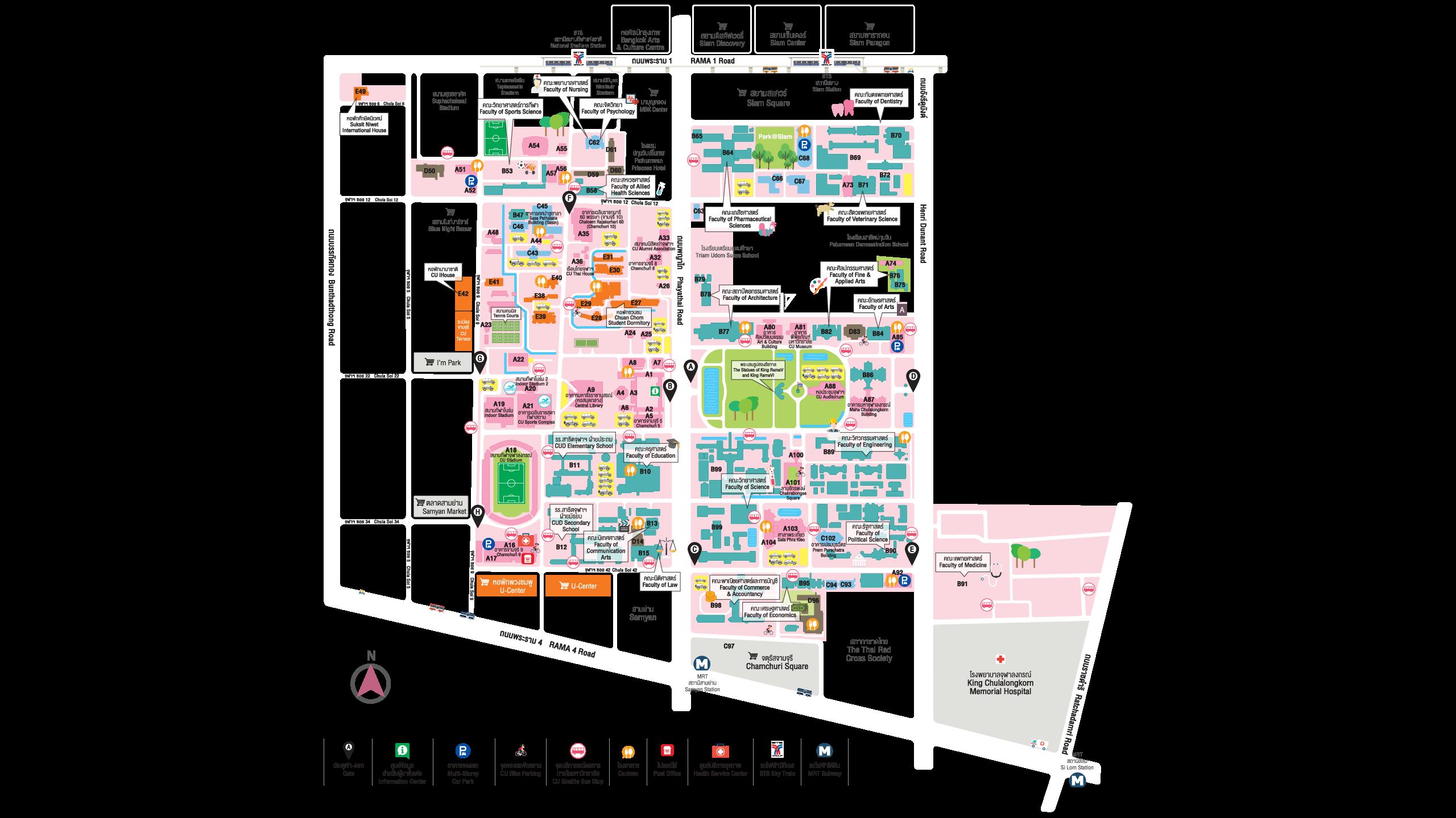 Chulalongkorn University Map
