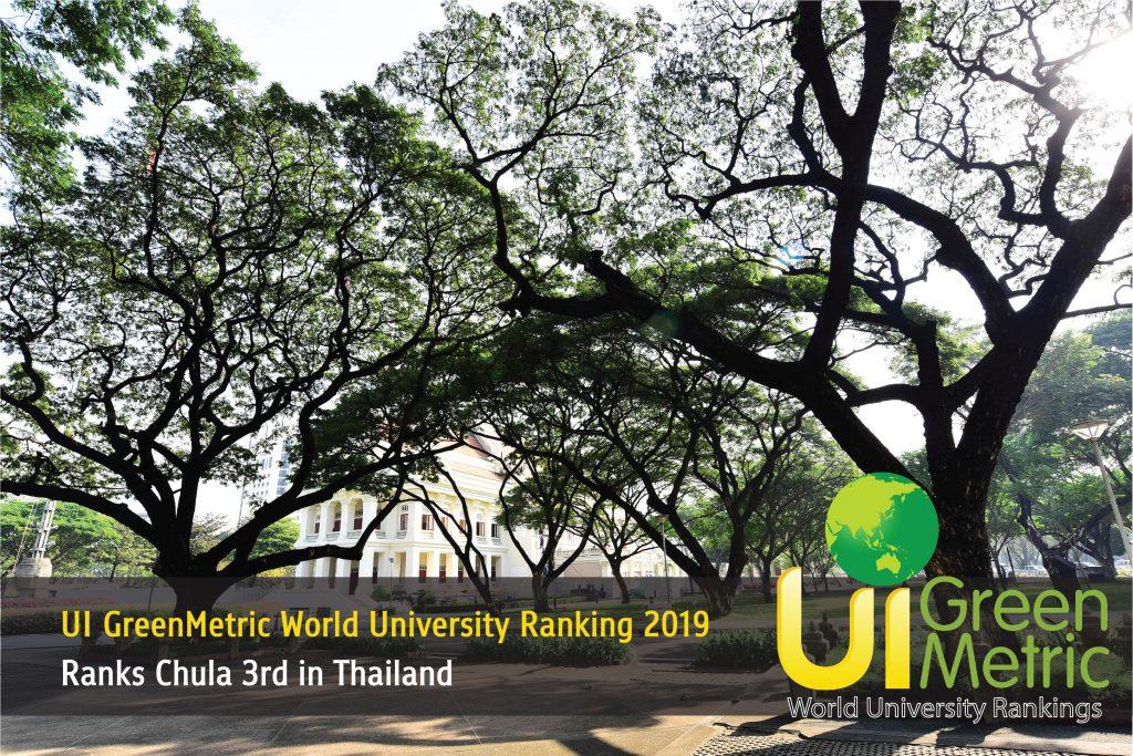 UI GreenMetric World University Ranking 2019 Ranks Chula 3rd in Thailand