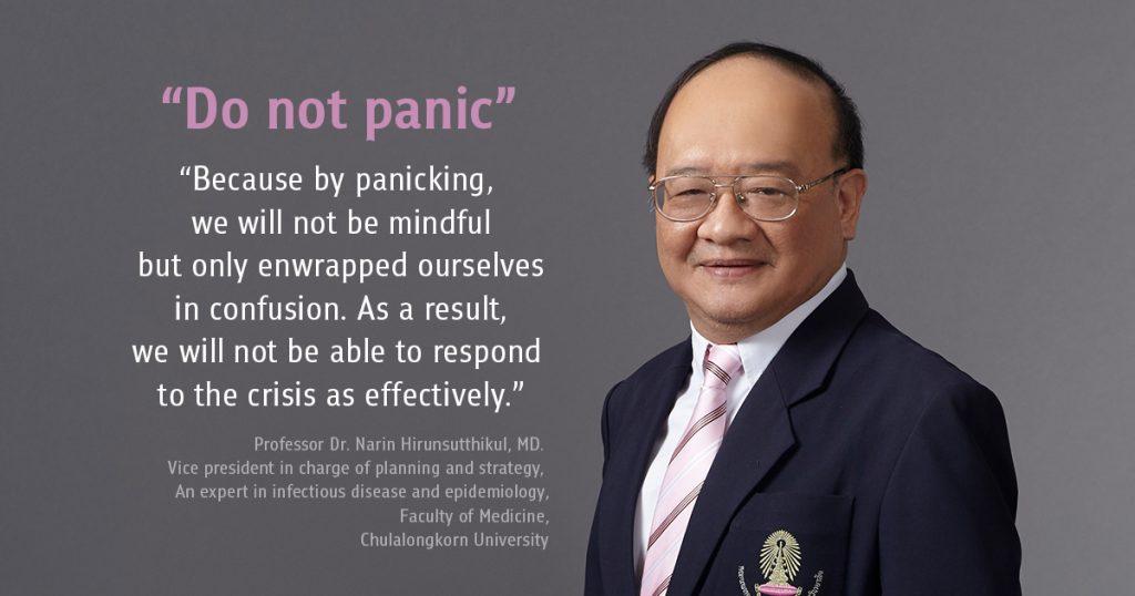 """""""Do not panic"""" Chula COVID-19 chief warns"""