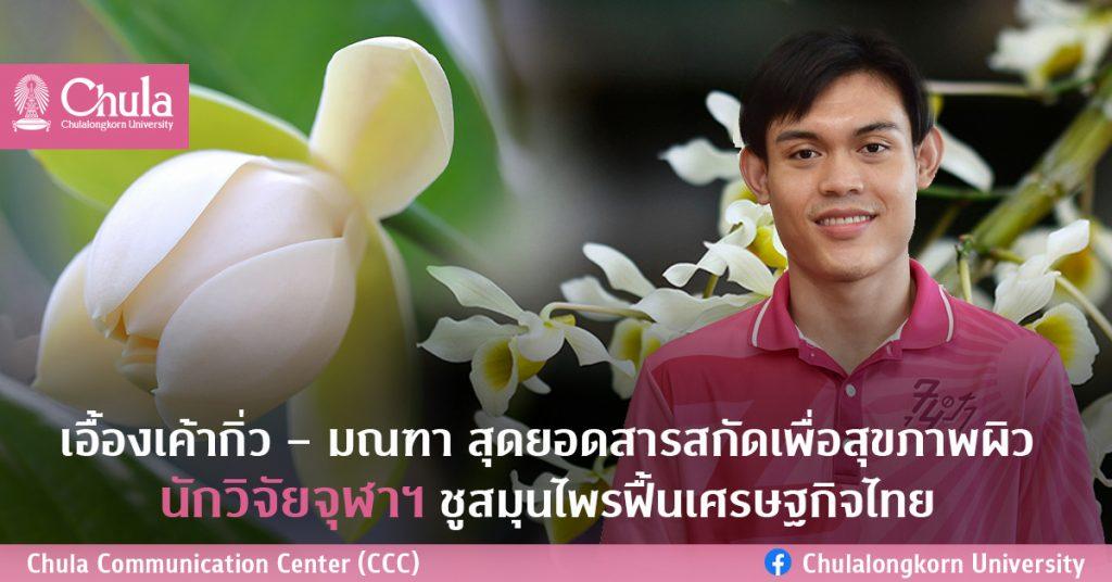 เอื้องเค้ากิ่ว – มณฑา สุดยอดสารสกัดเพื่อสุขภาพผิว นักวิจัยจุฬาฯ ชูสมุนไพรฟื้นเศรษฐกิจไทย