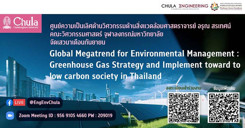 """เสวนาออนไลน์ """"กลยุทธ์และแนวทางในการลดก๊าซเรือนกระจกเพื่อมุ่งสู่สังคมคาร์บอนต่ำในประเทศไทย"""