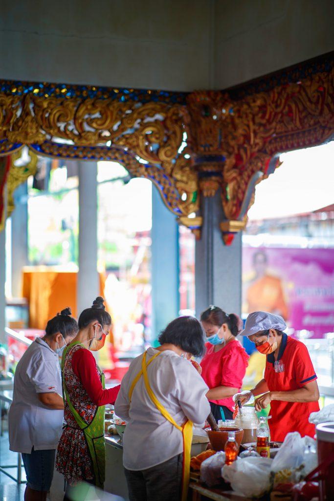 Food preparation for monks